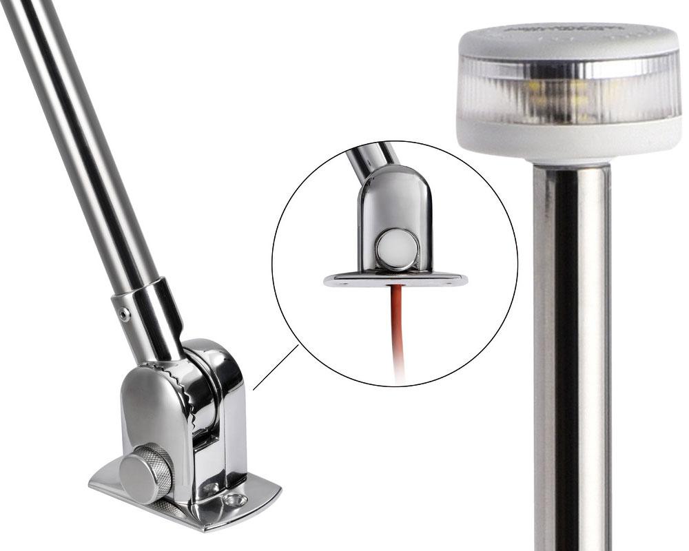 Folding-pole-with-Evoled-360-LED-light-White-plastic-cover-OS1103950-Nautiline