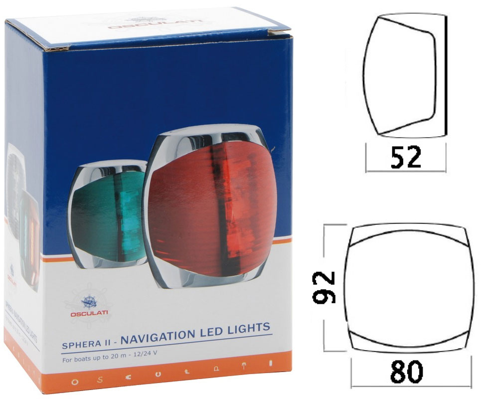 Sphera-II-LED-135-stern-navigation-light-Stainless-steel-body-12-24V-2W-OS1106 thumbnail 2