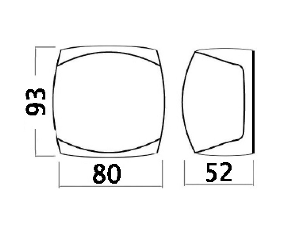 Sphera-III-112-5-red-left-navigation-light-12-24V-1W-OS1106221-Nautiline-OS11 thumbnail 2