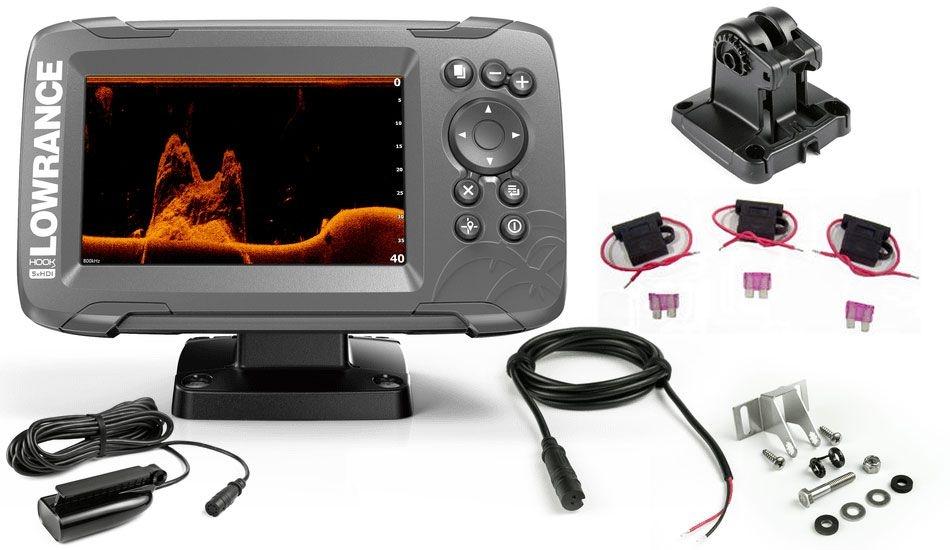 62120310 Lowrance Hook 2 -5x Eco GPS med Transductor Splithot 000 -14016 -001