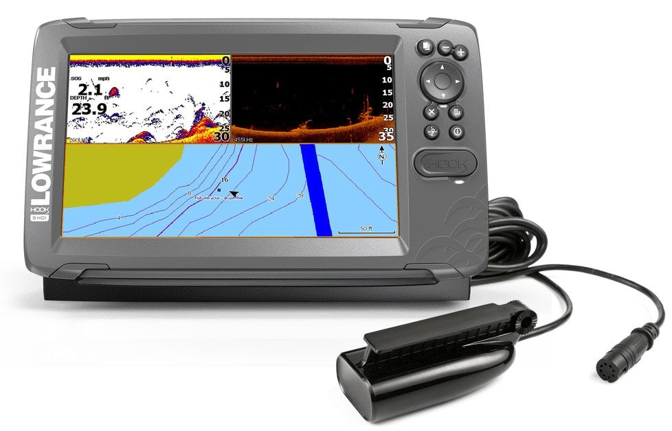 62120350 Lowrance Hook2-9 Eco Splitshot con plotter GPS Cartografico 000-14182-0