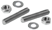 Stainless steel stud kit for cleats