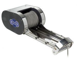 Quick Salpa ancore serie PTR 150W 12V 350Lb con recupero cima Bow-Roller #QPT350RBRX