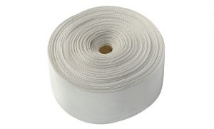 High-strength polyester webbing band White colour Width 135mm 50mt spool #OS0640201