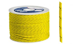 Polypropylene braid Ø 4mm Yellow 200mt spool #OS0642004GI