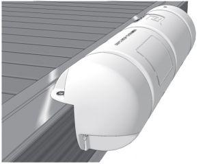 Straight white dock fender Ø25X90cm #FNIP30102
