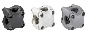 Ivory colour Plasticlip Multipurpose holder No drilling for tubes Ø18,5/25,5mm #FNIP37031
