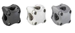 Grey Plasticlip Multipurpose holder No drilling for tubes Ø18,5/25,5mm #FNIP37032