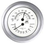 Glossy chrome plated Thermo-Hygrometer Ø130mm #FNIP38212