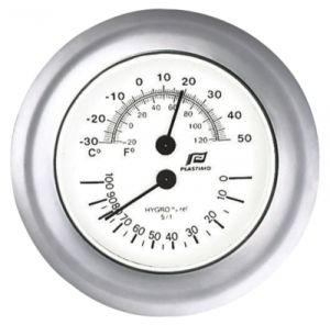 Glossy chrome plated Thermo-Hygrometer Ø130mm #FNIP38212