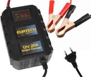 Eurteck Caricabatterie portatile 12V 20A Max 110-240V Auto Moto #ET21020866