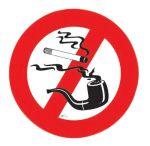 No smoking sticker - D.135mm #LZ10160