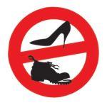 No shoes sticker D.135mm #LZ10150