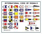 International signal code sticker 12x16cm #LZ45256