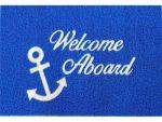 Tappeto Welcome Aboard Blu 40x60cm #LZ57196