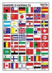 Tabella adesiva bandiere di nazionalità 16x24cm #N31812621812