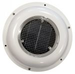 Solar powered air vent/extractor fan in white ABS #TRL6401220