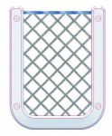 Polyester Mobile phone/palmtop holder net with white ABS frame #TRN1774126