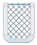 Rete porta Cellulare/Palmare in poliestere e cornice in ABS bianco #TRN1774126