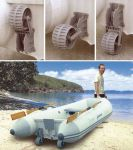 Coppia Ruote Alaggio per Tender in Plastica Antiurto Blocaggio 3 Posizioni #N91359604405