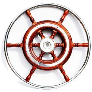 Mahogany Marine Steering Wheel/Helm Ø 540mm #FNI4345058