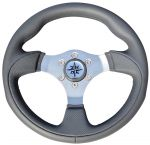 T12 Marine Steering Wheel/Helm Ø 300mm Grey #FNI4345231