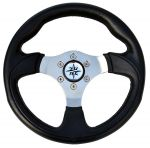 T12 Marine Steering Wheel/Helm Ø 300mm Black #FNI4345232