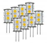 Kit da 8 Lampadine LED 1.8W 10-15V 3000K Bianca Calda G4 9SMD-5050 #ET27502285X8