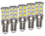 Kit da 5 Lampadine LED 4W 10-15V 3000K Bianca Calda E14 24SMD #ET27564000X5