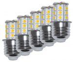 Kit da 5 Lampadine LED 4W 10-15V 3000K Bianca Calda E27 24SMD #ET27564010X5