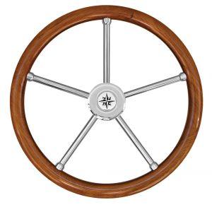 Teak Marine Steering Wheel/Helm Ø 400mm #FNI4345262