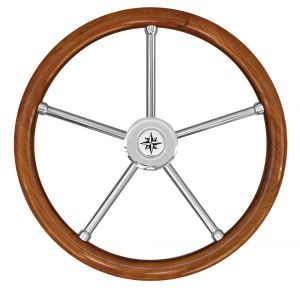Teak Marine Steering Wheel/Helm Ø 500mm #FNI4345264