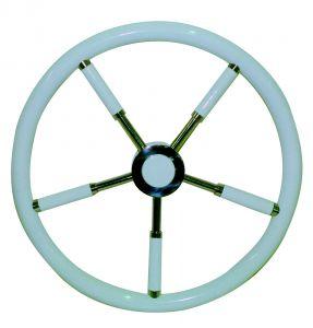 White varnished Teak Steering Wheel/Helm Ø 450mm #FNI4345345