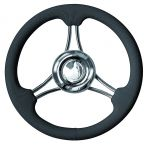 T22 Stainless steel Marine Steering Wheel/Helm Ø 350mm Black #FNI4345435