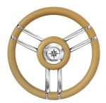 T27 Beige Marine Steering Wheel/Helm Ø 350mm #FNI4345443