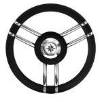 T27 Black Marine Steering Wheel/Helm Ø 350mm #FNI4345447