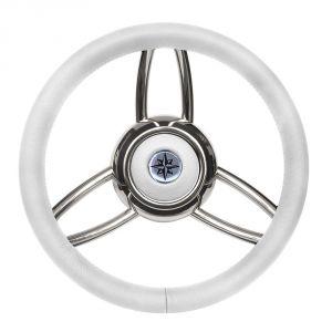 T26 White Marine Steering Wheel/Helm Ø 350mm  #FNI4345449