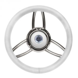 Volante Timone T26 Ø 350mm Bianco #FNI4345449