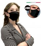 Mascherina Filtrante Nera per Adulti EMFA5 Riutilizzabile Lavabile 100PZ #N90056004592