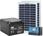 10W 12V Poly Photovoltaic Kit + 26Ah Battery + 10A Charge Controller #N54130200004