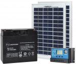 10W 12V Poly Photovoltaic Kit + 18Ah Battery + 10A Charge Controller #N54130200003