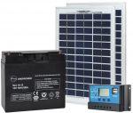 Kit Fotovoltaico 10W 12V Poly + Batteria 18Ah + Regolatore 10A #N54130200003