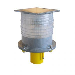 Yellow LED flashing warning light 177x177x185mm #FNI1040870