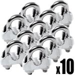 Set 100 pieces Stainless steel clamp for 5 mm cables #N60542600014-100