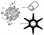 Girante 6 Pale Pompa Acqua Motore Fuoribordo YAMAHA MARINER 6F5-44352-00 CEF 352 #N82152014031