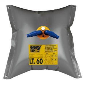 Serbatoio flessibile Acuqe Nere Capacità 120lt 730x1030mm Forma quadrata #FNI2323136