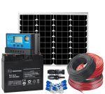 Kit Fotovoltaico 12V 50W Completo di Batteria 18Ah ed Accessori #N54130200089