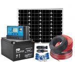 Kit Fotovoltaico 12V 50W Completo di Batteria 24Ah ed Accessori #N54130200090