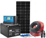 Kit Fotovoltaico 12V 100W Completo di Batteria 24Ah ed Accessori #N54130200146