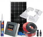 Kit Fotovoltaico 12V 180W Completo di Accessori e Regolatore MPPT 20 12/24V #N54130200218